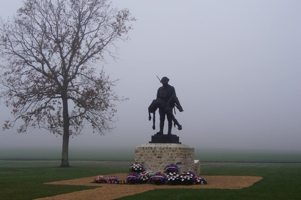 Rainbow Division Memorial at Croix Rouge Farm (France)